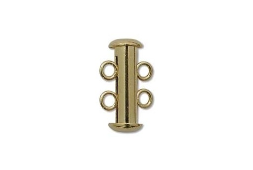 Gold Plated 2 Loops Tubular Clasp 5x16mm