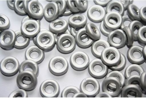 Perline Glass Rings 9mm, 15Pz., Labrador Full Matted Col.27070