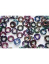 Perline Glass Rings 9mm, 15Pz., Magic Blue Col.95100
