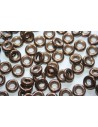 Perline Glass Rings 9mm, 15Pz., Jet Bronze Col.14415