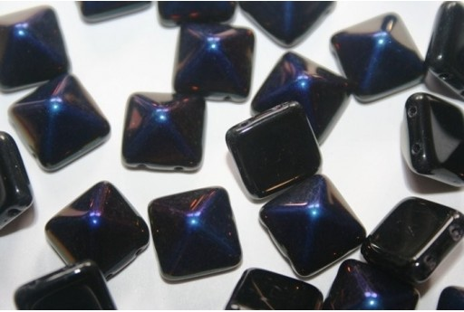 Pyramid Beads 12X12mm, 5Pz., Jet Azuro Col.22201