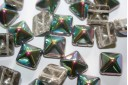 Perline Pyramid 12X12mm, 5Pz., Crystal Vitrail Col.28101