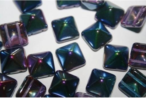 Pyramid Beads 12X12mm, 5Pz., Magic Blue Col.95100