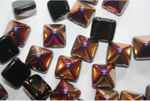 Pyramid Beads 12X12mm, 5Pz., Jet Sliperit Col.029500