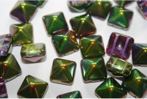 Pyramid Beads 12X12mm, 5Pz., Magic Orchid Col.95000