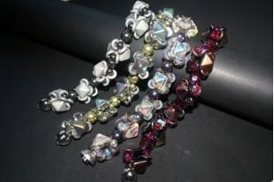 15 Perline Glass Rings 9mm Silver 1/2 Labrador Col.27001