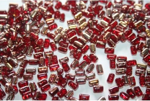 Perline Rulla 3x5mm, 10gr., Copper-Siam Ruby Col.C90080