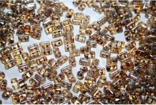 Rulla Beads 3x5mm, 10gr., Crystal-Picasso Silver