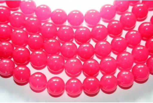Jade Beads Strawberry Pink Sphere 12mm - 32pz