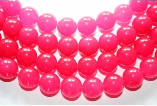 Jade Beads Strawberry Pink Sphere 14mm - 2pz