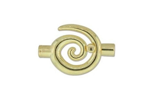 Gold Plated Swirl Toggle Clasp 50x34mm
