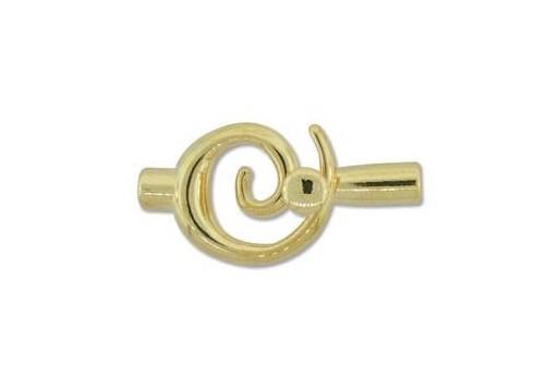 Chiusura Spirale Colore Oro 34x18mm
