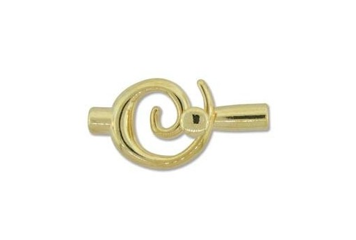Gold Plated Swirl Toggle Clasp 34x18mm