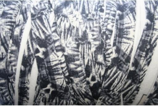 Lycra Ribbon Cord Grey/White Mimetic Texture - 1,5m FY02