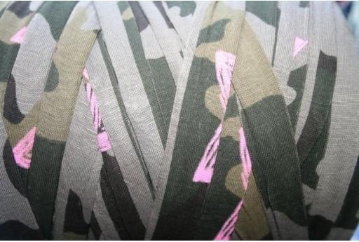 Fettuccia Lycra Fantasia Verde Militare, 1,5mt., FY11