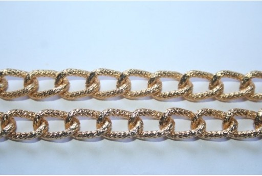 Aluminium Chain 13x8,5mm Gold Plated - 1m