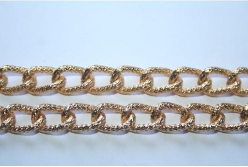 Aluminium Chain 13x8,5mm Gold Plated - 1m