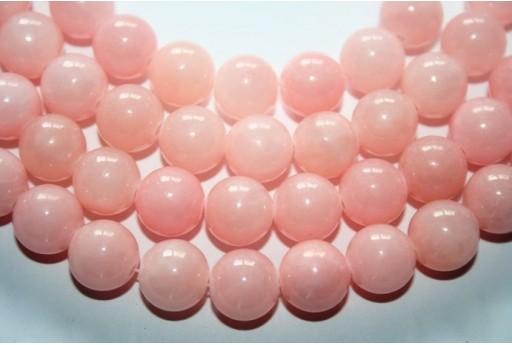 Filo 38 Pietre Giada Mashan Rosa Pallido Sfera 10mm GI272