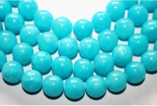 Mashan Jade Beads Aquamarine Sphere 10mm - 38pz
