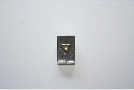 Chiusura Magnetica Rame Rodiato Rettangolo 10x16mm DF138