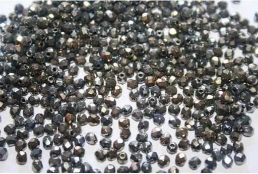 Perline Mezzi Cristalli Iris Brown 3mm - 60pz