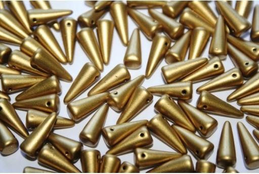 Spikes Beads 5x13mm, 20pz., Matte Metallic Aztec Gold