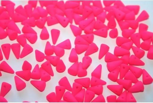 Perline Spikes 5x8mm, 30pz., Neon-Pink