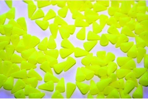 Spikes Beads 5x8mm, 30pz., Neon-Yellow