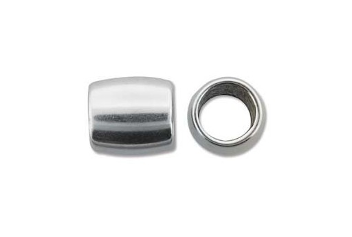 Climbing Silver Oval Spacer Bead 15x16mm - 1pc