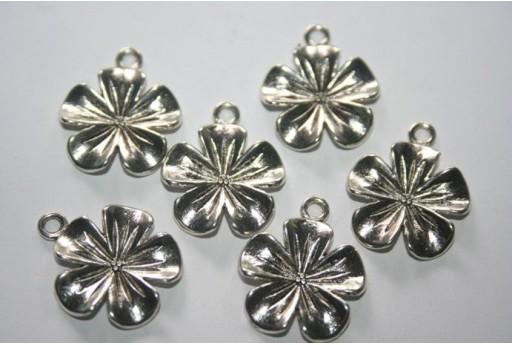 Pendenti Argento Tibetano Fiore 23x20mm - 6pz