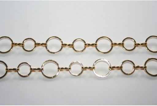 Gold Plated Chain dia. 8-10mm - 20cm
