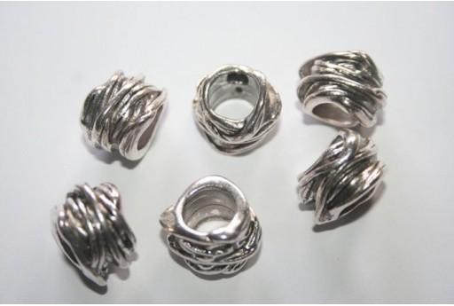 Rondelle Argento Tibetano 11x15mm - 3pz