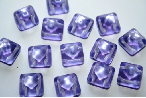 Pyramid Beads 12X12mm, 5Pz., Lilac Col.22512