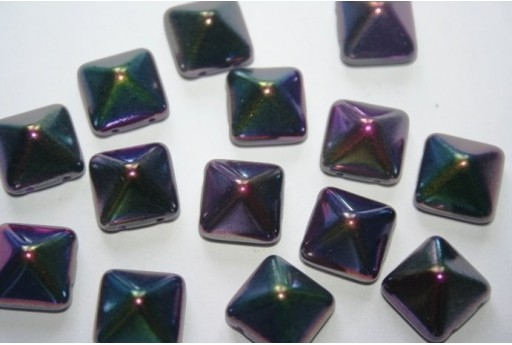 Pyramid Beads 12X12mm, 5Pz., Magic Purple Col.95500