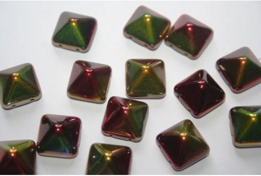 Perline Pyramid 12X12mm, 5Pz., Magic Apple Col.95600