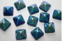 Perline Pyramid 12X12mm, 5Pz., Jet AB Col.028701