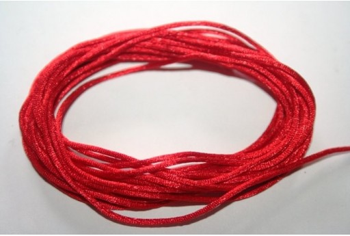 Satin Rattail Cord 1mm Red - 5m