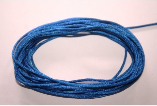 Satin Rattail Cord 1mm Blue - 5m