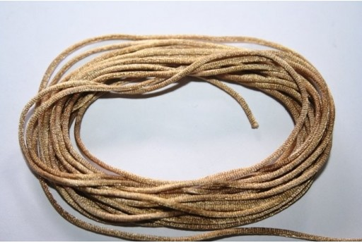 Satin Rattail Cord 1mm Light Brown - 5m