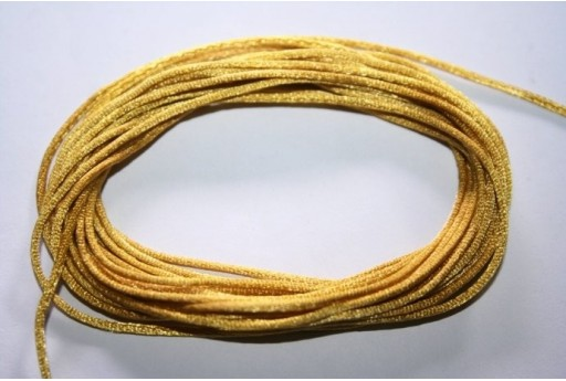 Satin Rattail Cord 1mm Golden Yellow - 5m