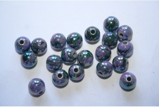 Acrylic Beads Violet Sphere 8mm - 20pz