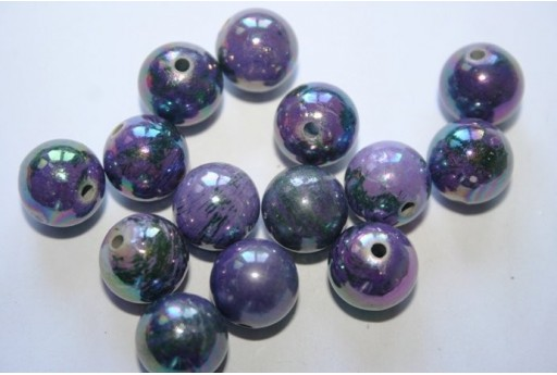 Acrylic Beads Violet Sphere 12mm - 14pz