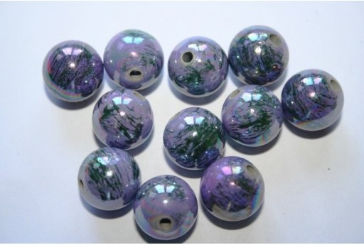 Acrylic Beads Violet Sphere 14mm - 12pz