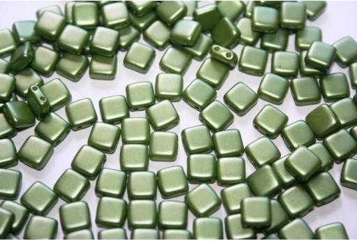 Perline Tile 6mm, 50Pz., Olive Green Pearl Col.25034AL