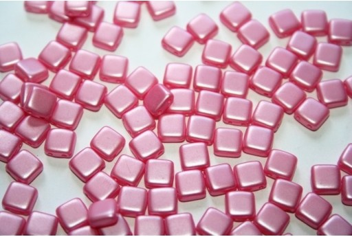Perline Tile 6mm, 50Pz., Pink Pearl Col.25008AL