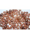 Lentil Beads 6mm, 50Pz., Milky Pink-Copper Picasso