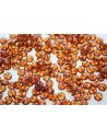 Lentil Beads 6mm, 50Pz., Milky Pink- Picasso