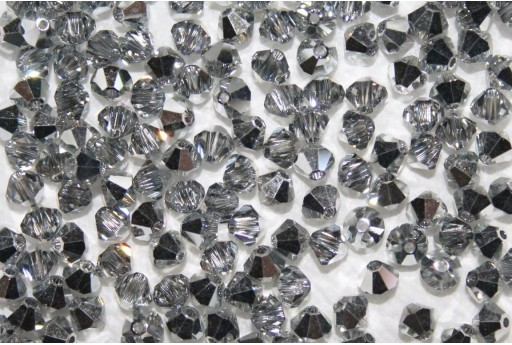 Bicono Swarovski 4mm, 20pz., Crystal Comet Argent Light CAL