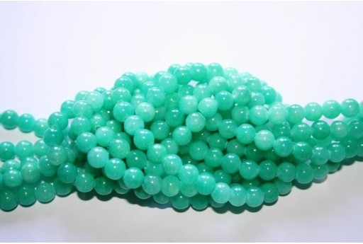 Mashan Jade Beads Aqua Green Sphere 6mm - 68pz