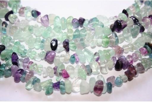 Fluorite Beads Rock 5X10mm - 100pz